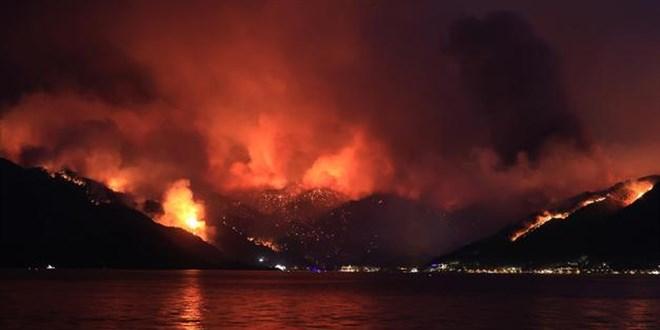 Marmaris'teki yangında bir kişi hayatını kaybetti