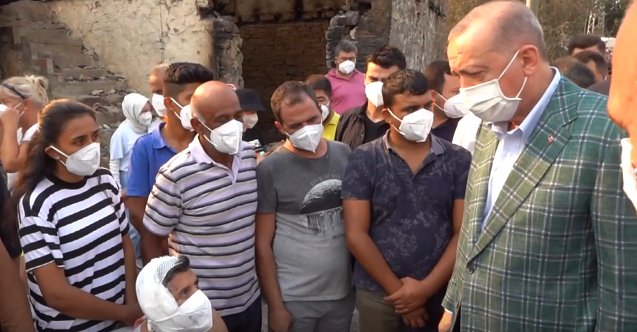 Erdoğan'dan afetzedelere ziyaret