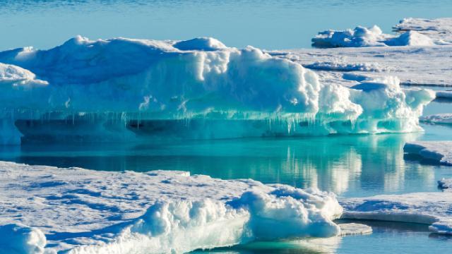 Bir günde 8,5 milyar ton buzul eridi