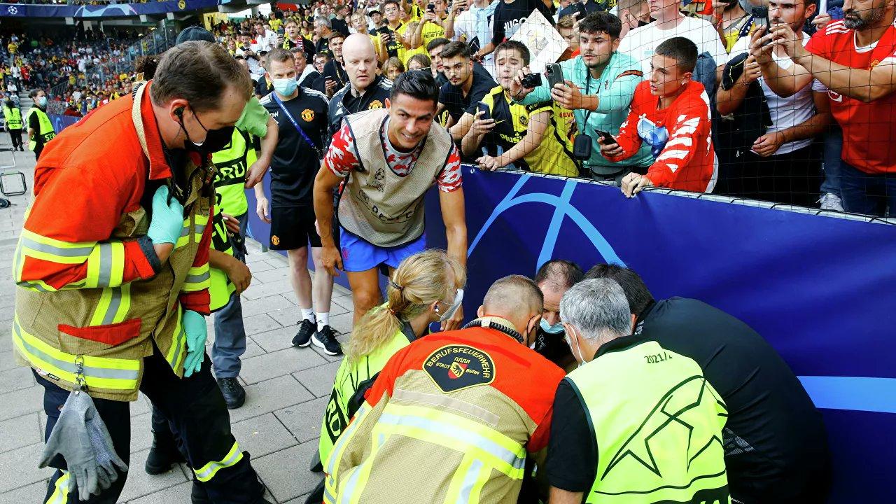 Ronaldo, kadın güvenlik görevlisini bayılttı!