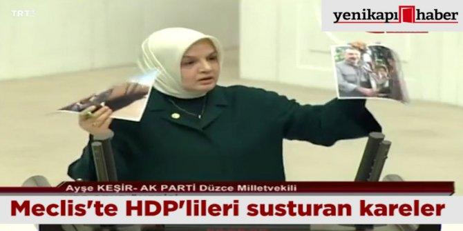 Meclis'te HDP'lileri susturan kareler