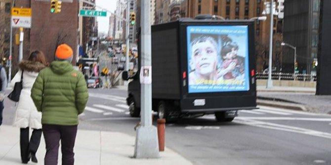 PKK'lılardan New York sokaklarında Afrin yalanı