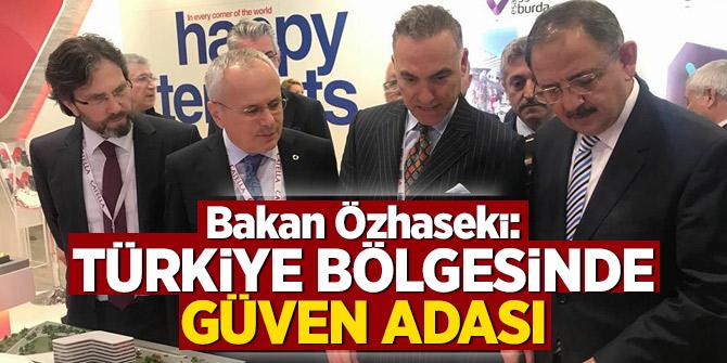 Bakan Özhaseki: Türkiye bölgesinde güven adası