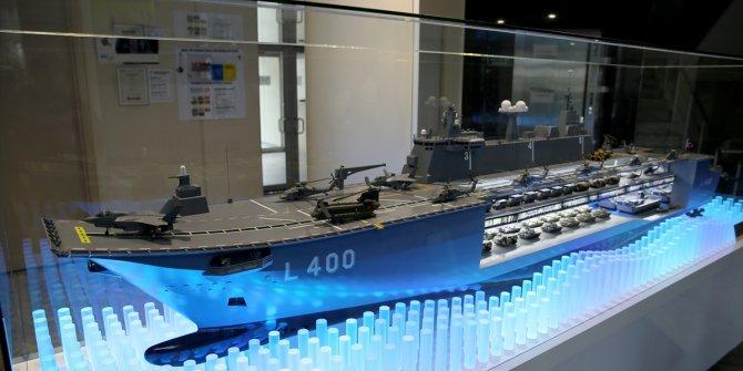 Türkiye'nin ilk milli uçak gemisi 'TCG Anadolu' görüntülendi