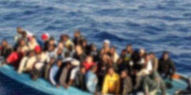 Libya açıklarında 80 kaçak göçmen kurtarıldı