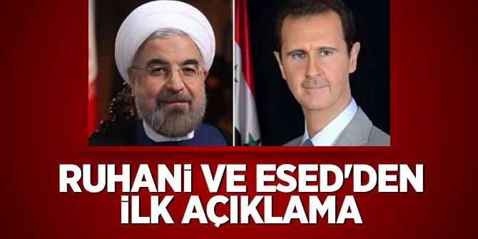 Ruhani ve Esed'den ilk açıklama