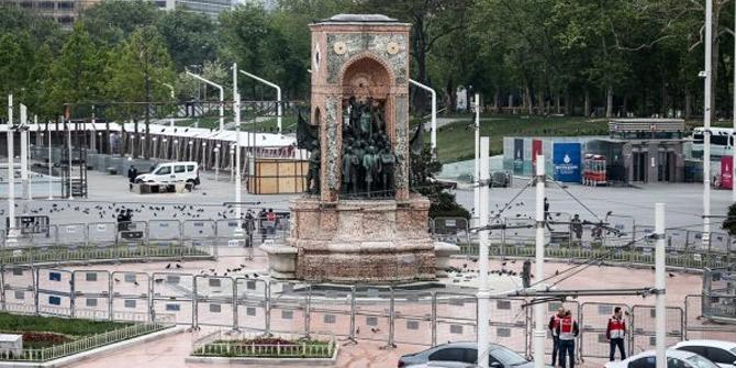 Taksim'de '1 Mayıs'! Sessizliğe gömüldü