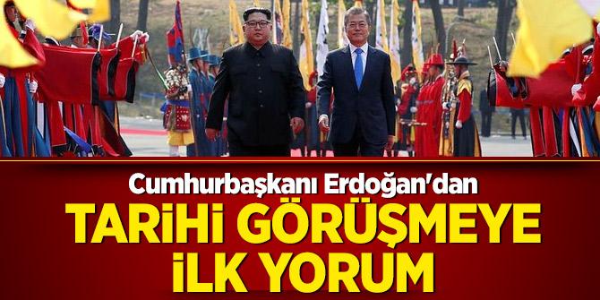 Cumhurbaşkanı Erdoğan'dan tarihi görüşmeye ilk yorum