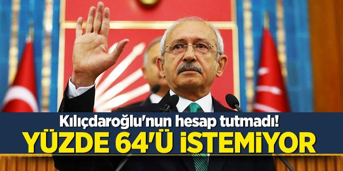 Kılıçdaroğlu'nun hesap tutmadı! Yüzde 64'ü istemiyor
