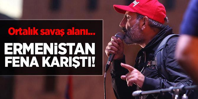 Ermenistan fena karıştı! Ortalık savaş alanı...