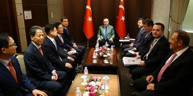 Erdoğan, Güney Kore'de firma yöneticilerini kabul etti