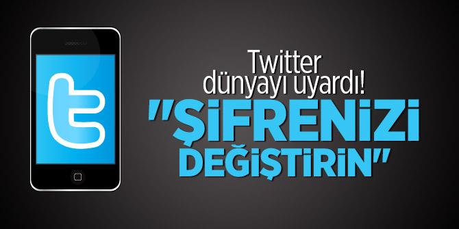 """Twitter dünyayı uyardı! """"Şifrenizi değiştirin"""""""