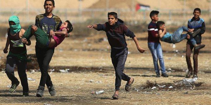 Gazze'deki gösterilerde 5 çocuk şehit old