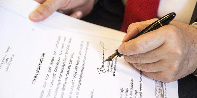Cumhurbaşkanı adaylığı için başvuru süresi sona erdi