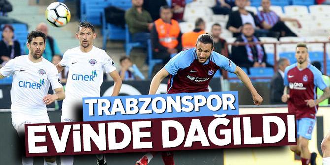 Trabzonspor evinde dağıldı