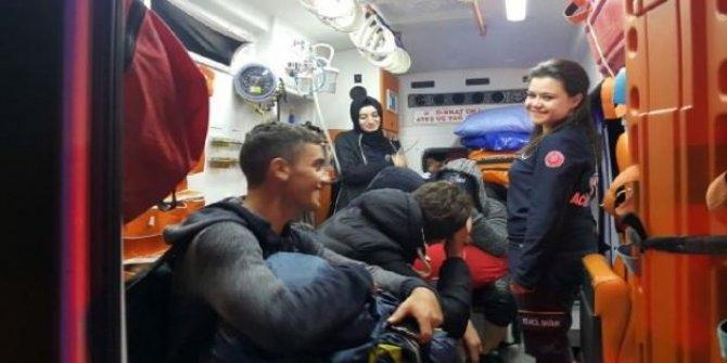 Kamp yaparken mahsur kalan öğrenciler kurtarıldı