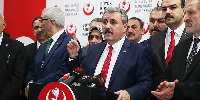 BBP Genel Merkezince Cumhur İttifakı'na ilişkin bildirge yayımlandı