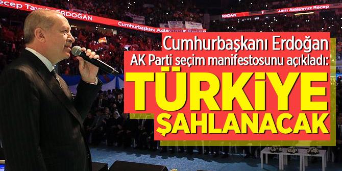 Cumhurbaşkanı Erdoğan AK Parti seçim manifestosunu açıkladı: Türkiye şahlanacak