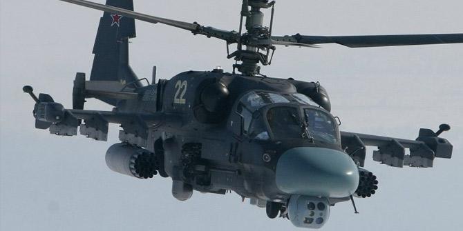 Suriye'de Rus'ya ait KA-52 savaş helikopteri düştü