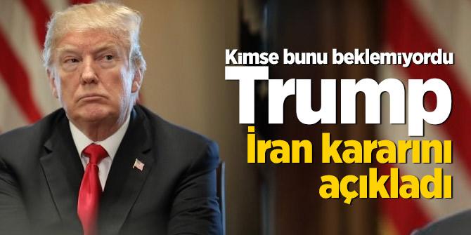 Trump İran kararını verdi! Canlı yayında tüm dünyaya duyurdu