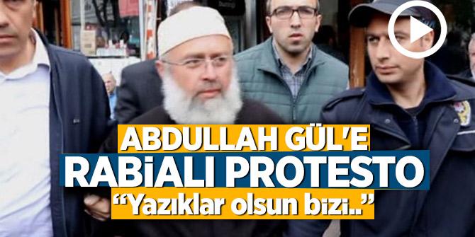 """Abdullah Gül'e şok protesto! """"Yazıklar olsun bizi..."""""""
