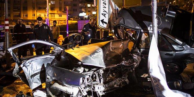 Başkentte feci kaza! 4 yaralı