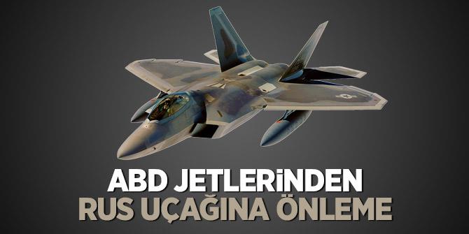 ABD jetlerinden Rus uçağına önleme