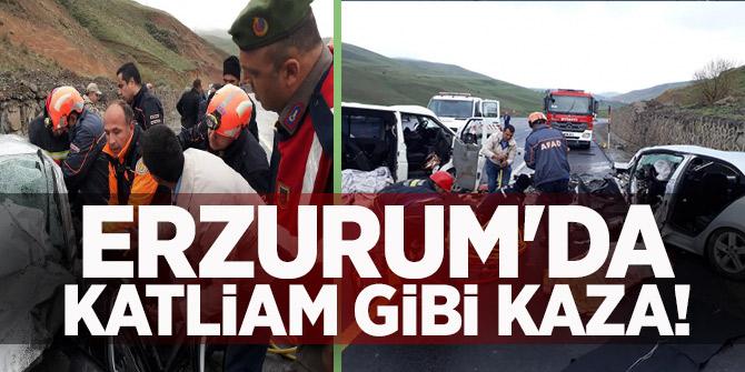 Erzurum'da katliam gibi kaza!