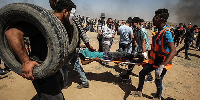 İsrail topçu atışında yaralanan Filistinli şehit oldu