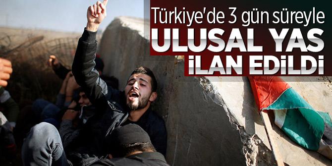 Türkiye'de 3 gün süreyle ulusal yas ilan edildi