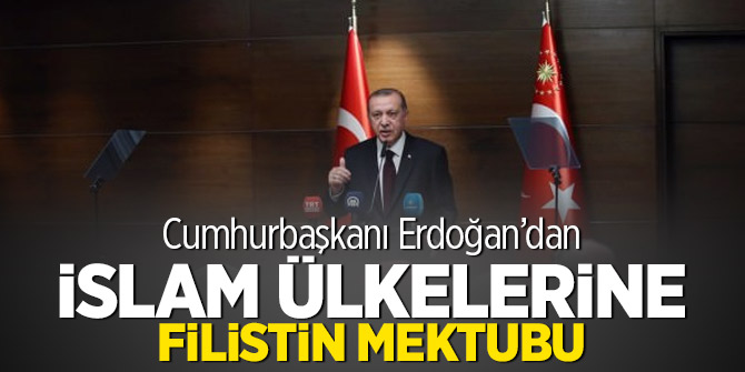 Cumhurbaşkanı Erdoğan'dan İslam ülkelerine Filistin mektubu