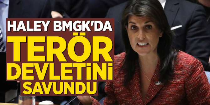 Haley BMGK'da terör devletini savundu