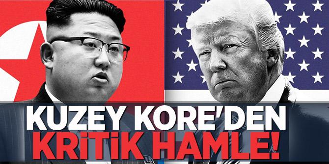 Kuzey Kore'den Kritik Hamle! ABD'yle görüşmeyi...