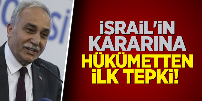 İsrail'in kararına hükümetten ilk tepki!
