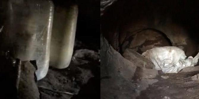 Hakurk bölgesinde 35 EYP'nin olduğu mağara yok edildi