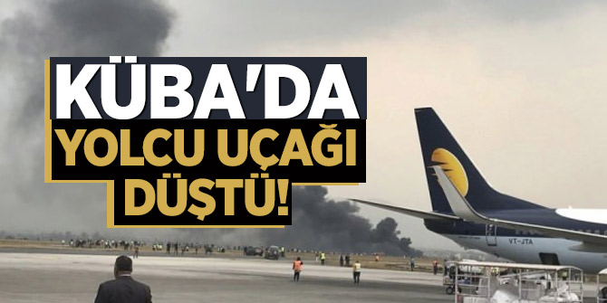 Havana'da Boeing 737 tipi uçak düştü