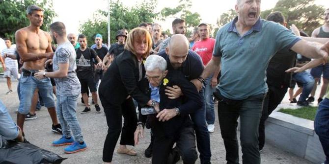 Türkleri öven Selanik Belediye Başkanı Boutaris saldırıya uğradı