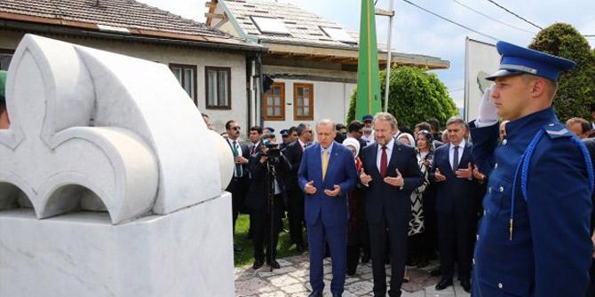 Cumhurbaşkanı Erdoğan, Saray Bosna'ya iner inmez oraya gitti