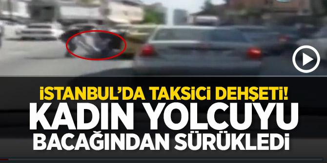 İstanbul'da taksici dehşeti kamerada!