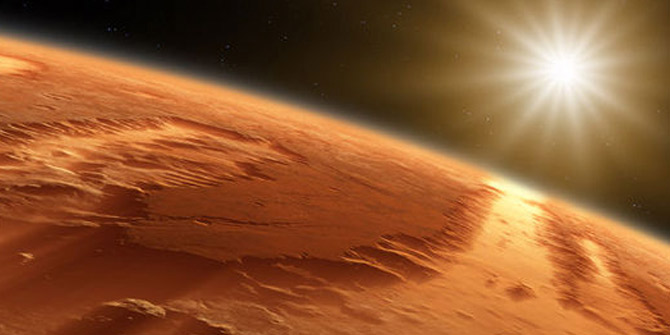 Mars'ta demir zengini kayalar hayat kaynağı olabilir