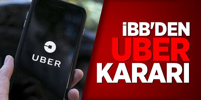 İBB'den UBER kararı