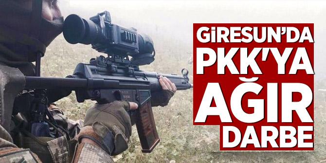 Giresun'da PKK'ya ağır darbe