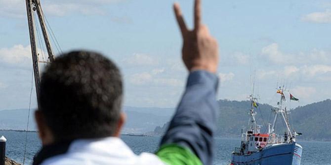 """Hollanda'da """"Gazze filosu""""na teknelerle destek gösterisi"""