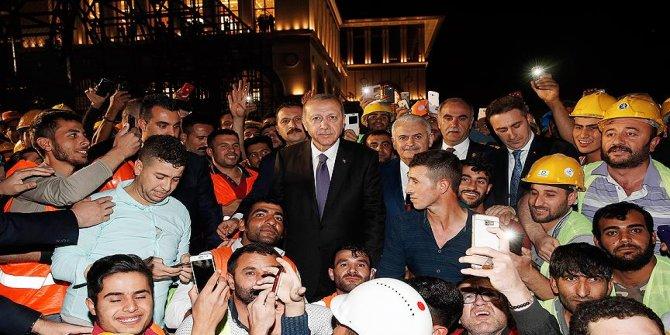 Cumhurbaşkanı Erdoğan, Külliye'deki inşaat çalışmalarını inceledi