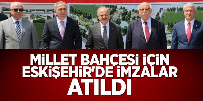 Millet bahçesi için Eskişehir'de imzalar atıldı