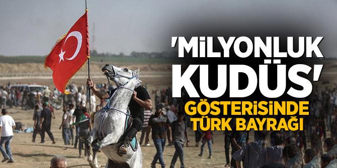 'Milyonluk Kudüs' gösterisinde Türk bayrağı