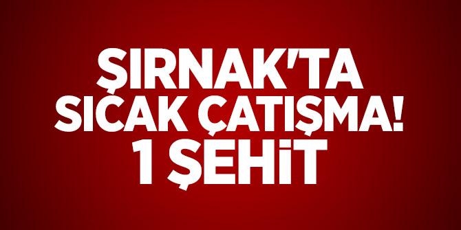 Şırnak'ta sıcak çatışma! 1 Şehit