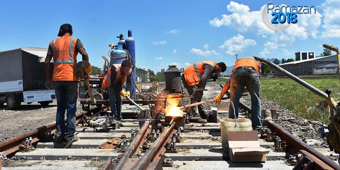 Demiryolu işçilerinin ramazan mesaisi