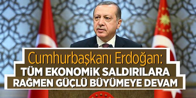 Erdoğan'dan büyüme rakamlarıyla ilgili değerlendirme