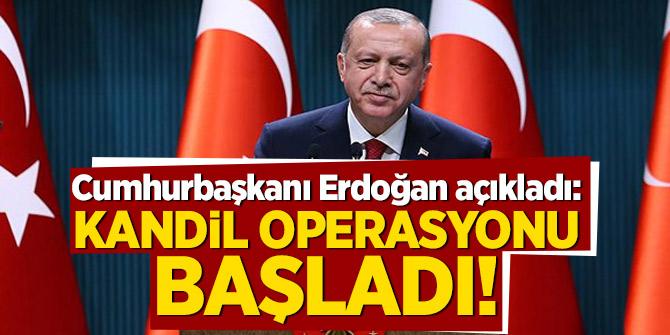Cumhurbaşkanı Erdoğan açıkladı: Kandil operasyonu başladı!